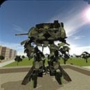 城市战争坦克机器人大战游戏