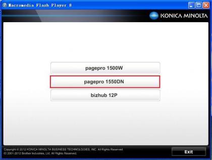 柯尼卡(KONICA MINOLTA)1550DN打印机设置网络打印机