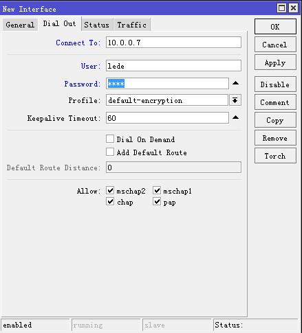 RouterOS指定内网IP走指定接口